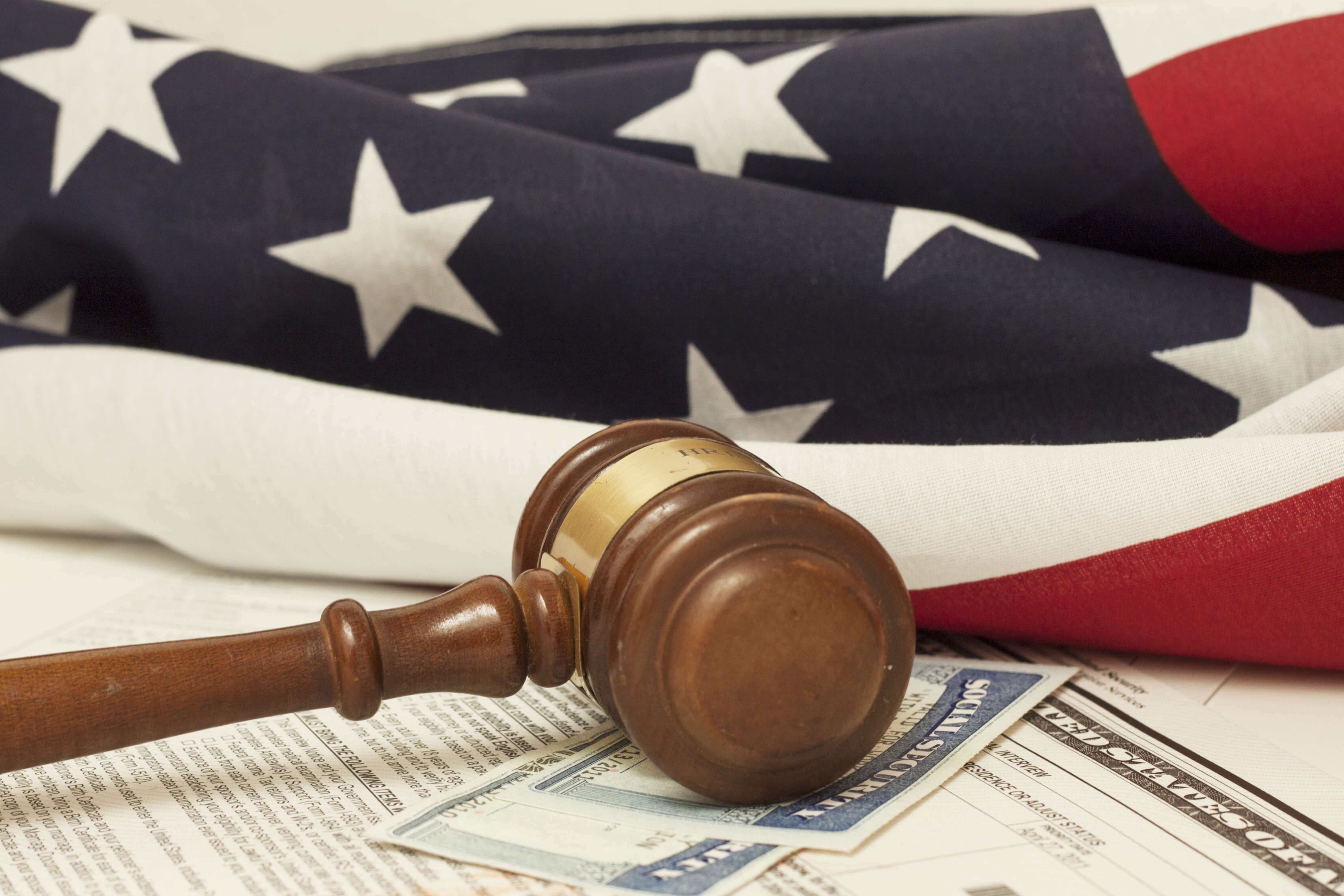 United States Flag & Gavel